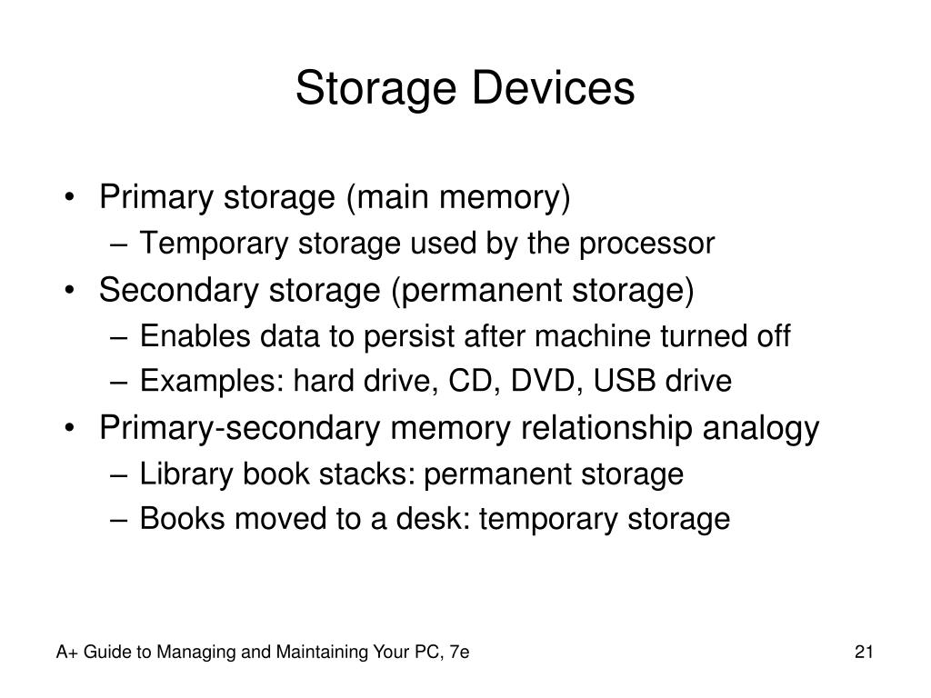 Storage Devices