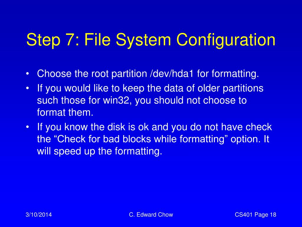 Step 7: File System Configuration