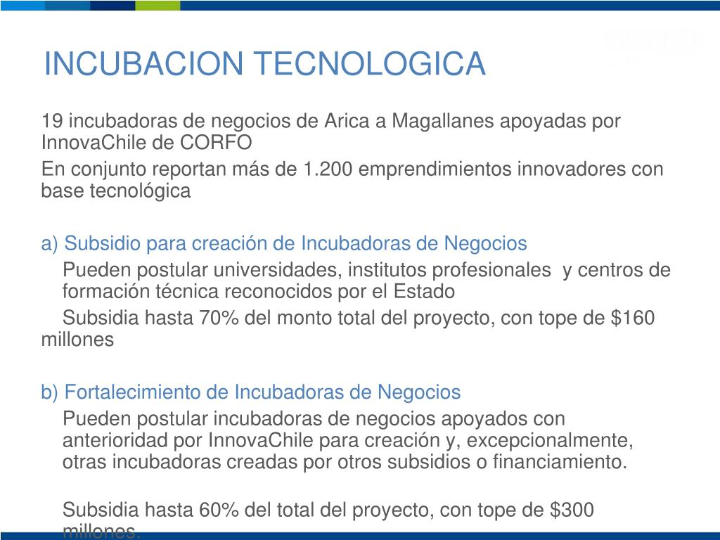 INCUBACION TECNOLOGICA