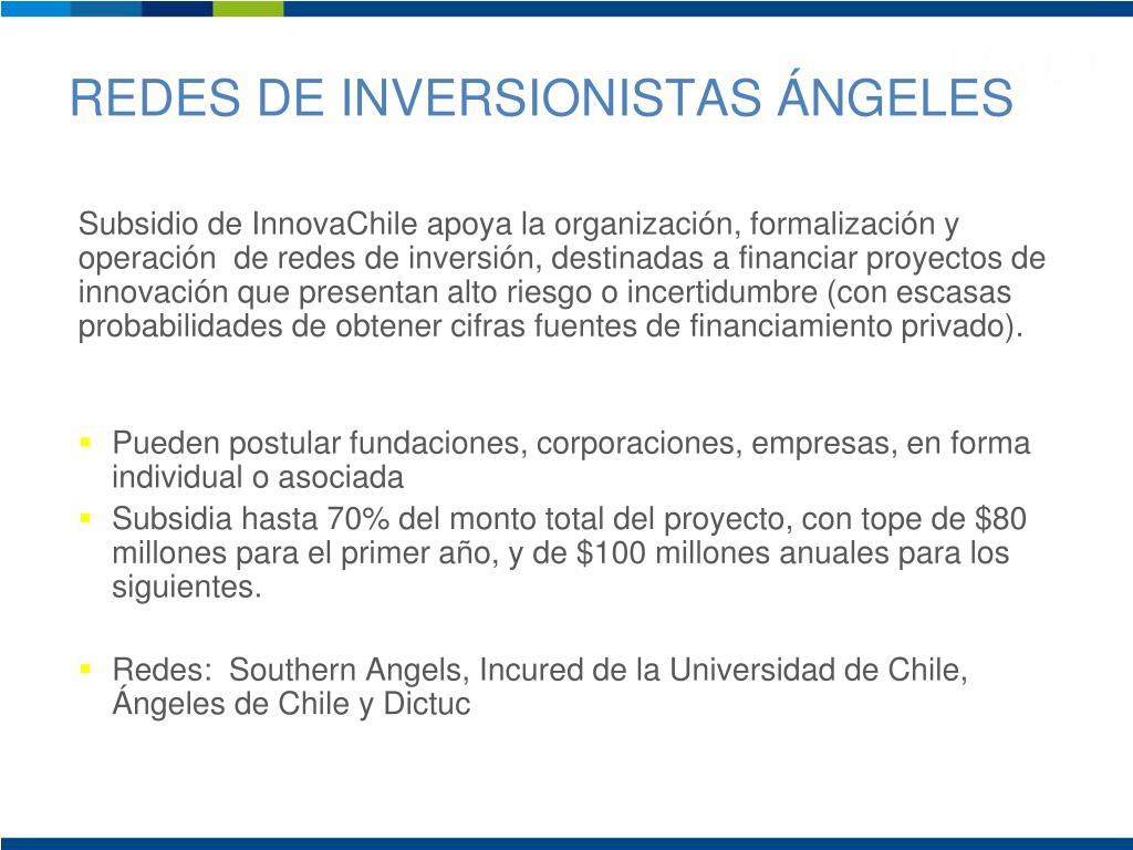 REDES DE INVERSIONISTAS ÁNGELES