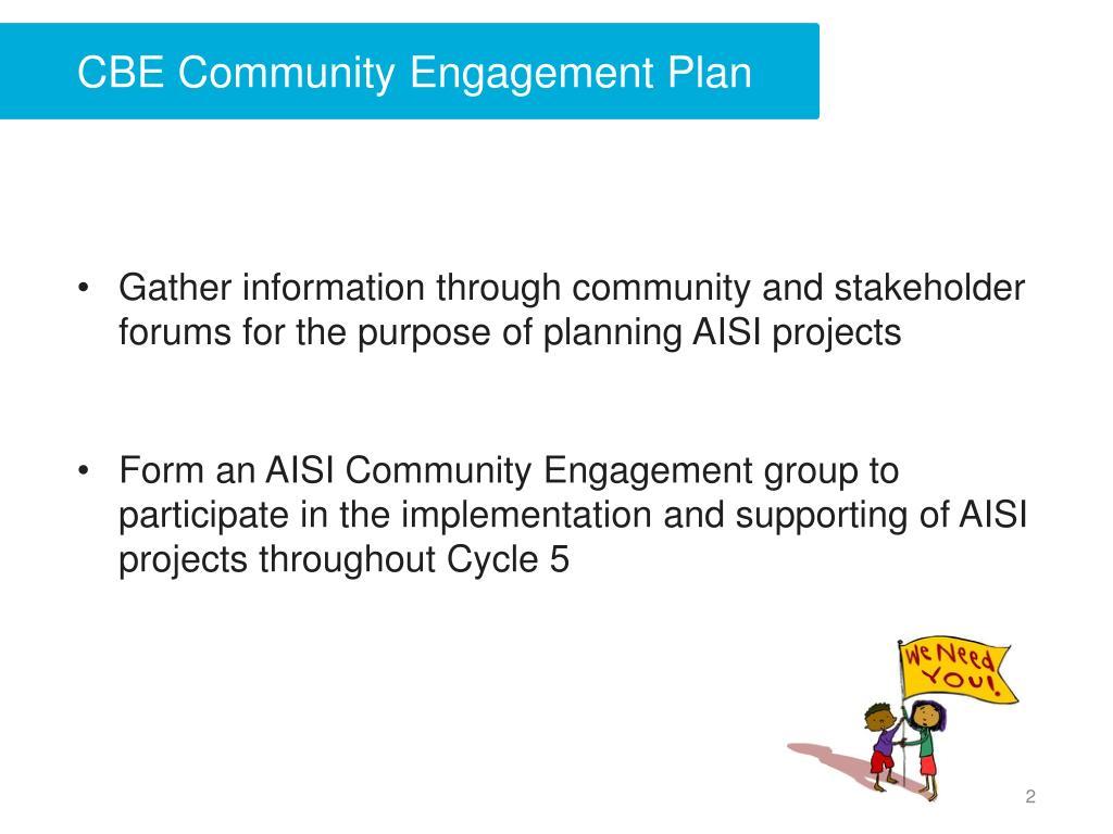 CBE Community Engagement Plan