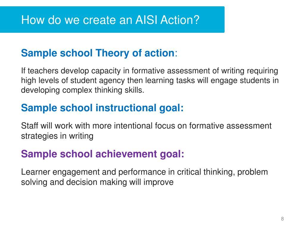 How do we create an AISI Action?