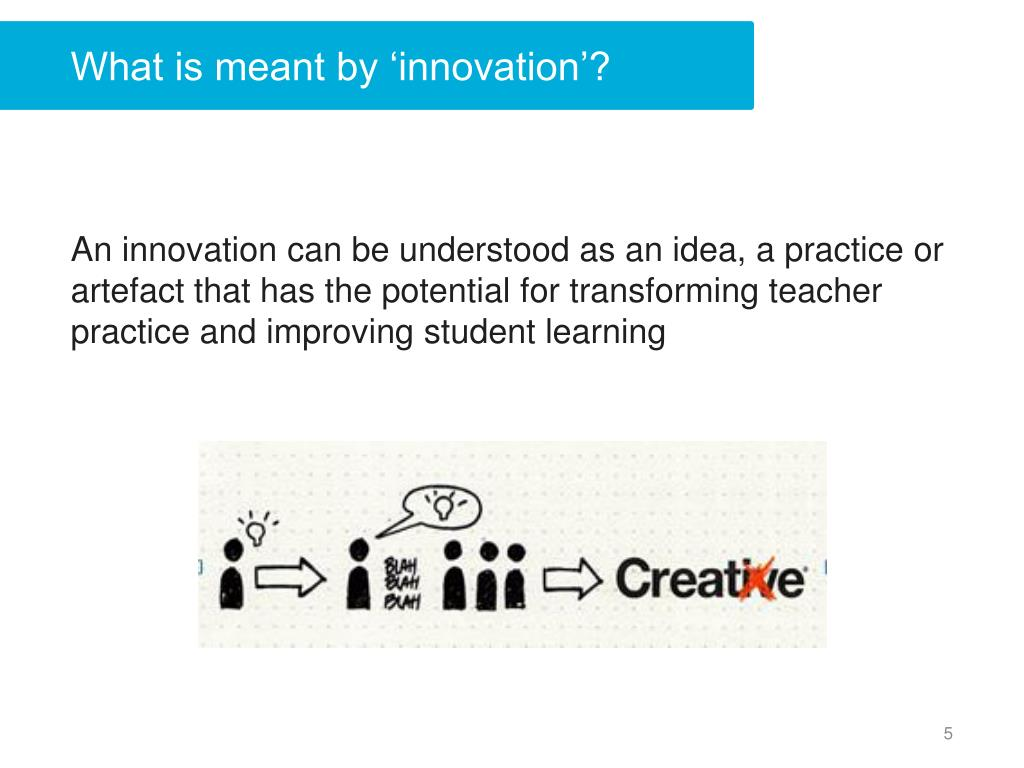 What is meant by 'innovation'?