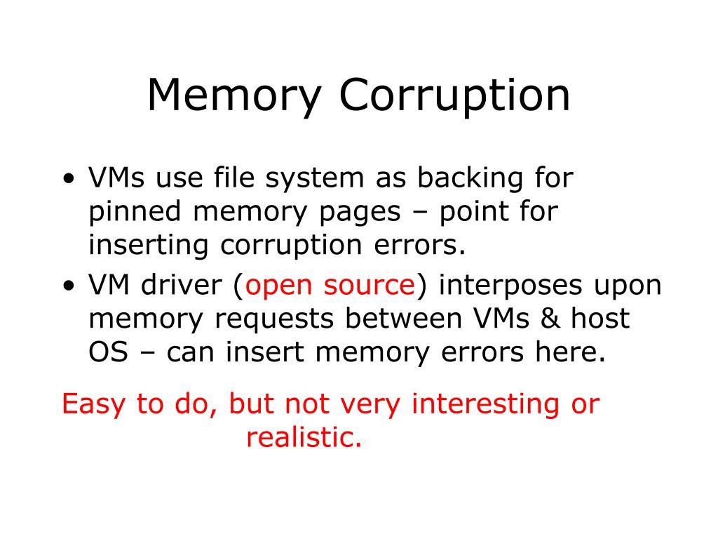 Memory Corruption