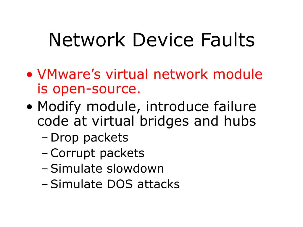 Network Device Faults