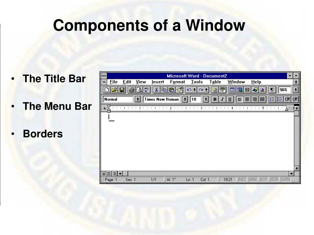 Components of a Window