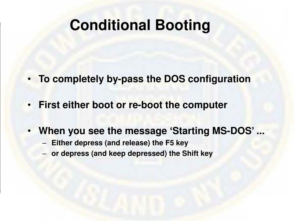 Conditional Booting