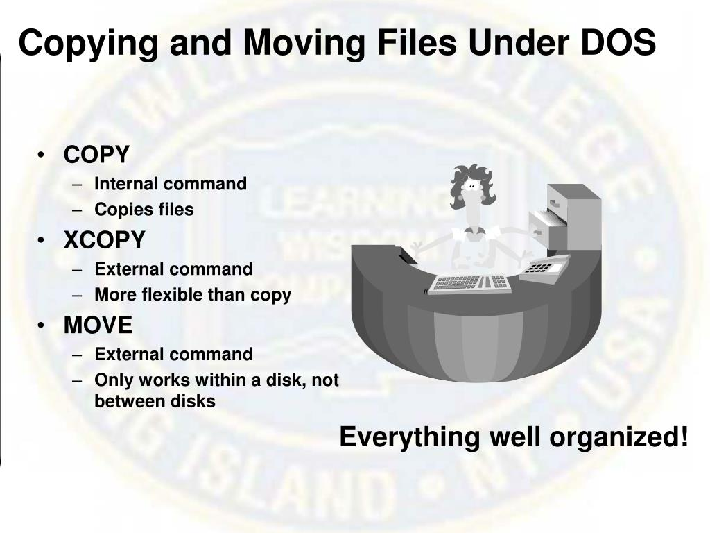 Copying and Moving Files Under DOS