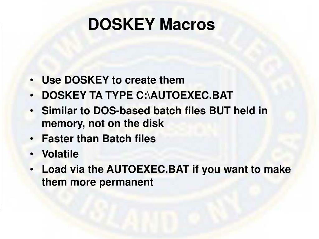 DOSKEY Macros
