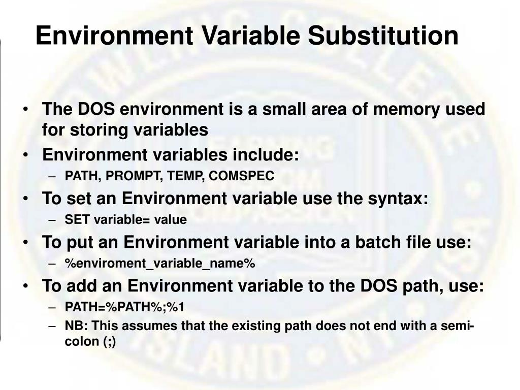 Environment Variable Substitution