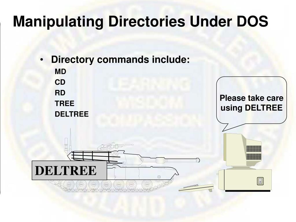 Manipulating Directories Under DOS