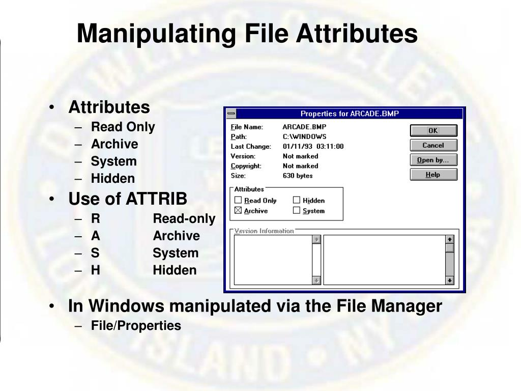 Manipulating File Attributes