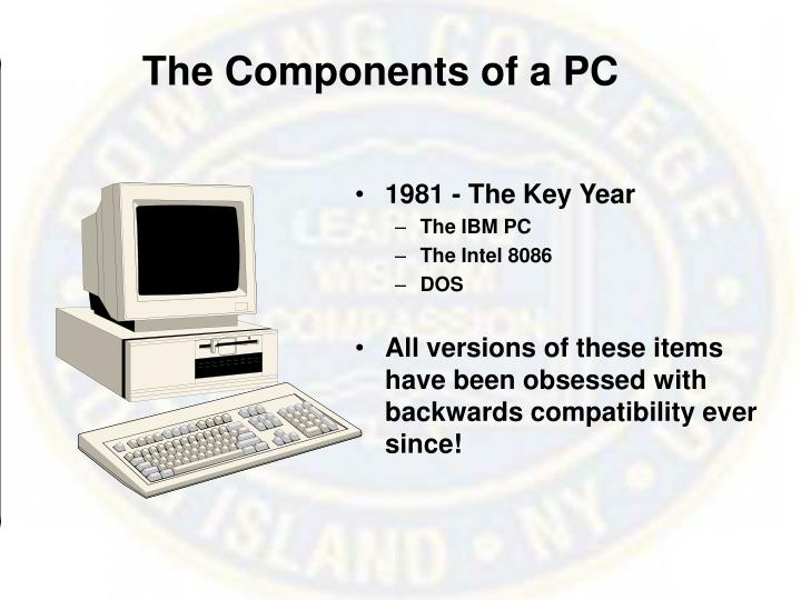 The components of a pc