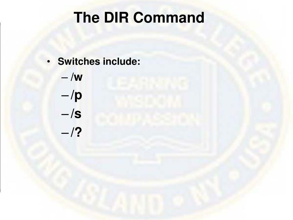The DIR Command