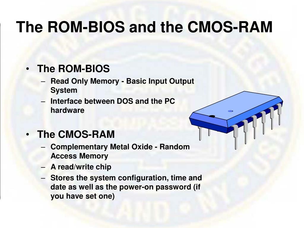 The ROM-BIOS and the CMOS-RAM