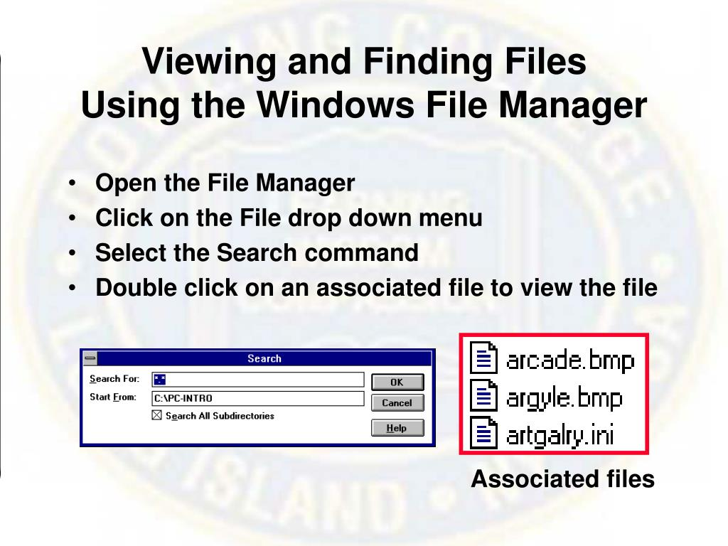 Viewing and Finding Files