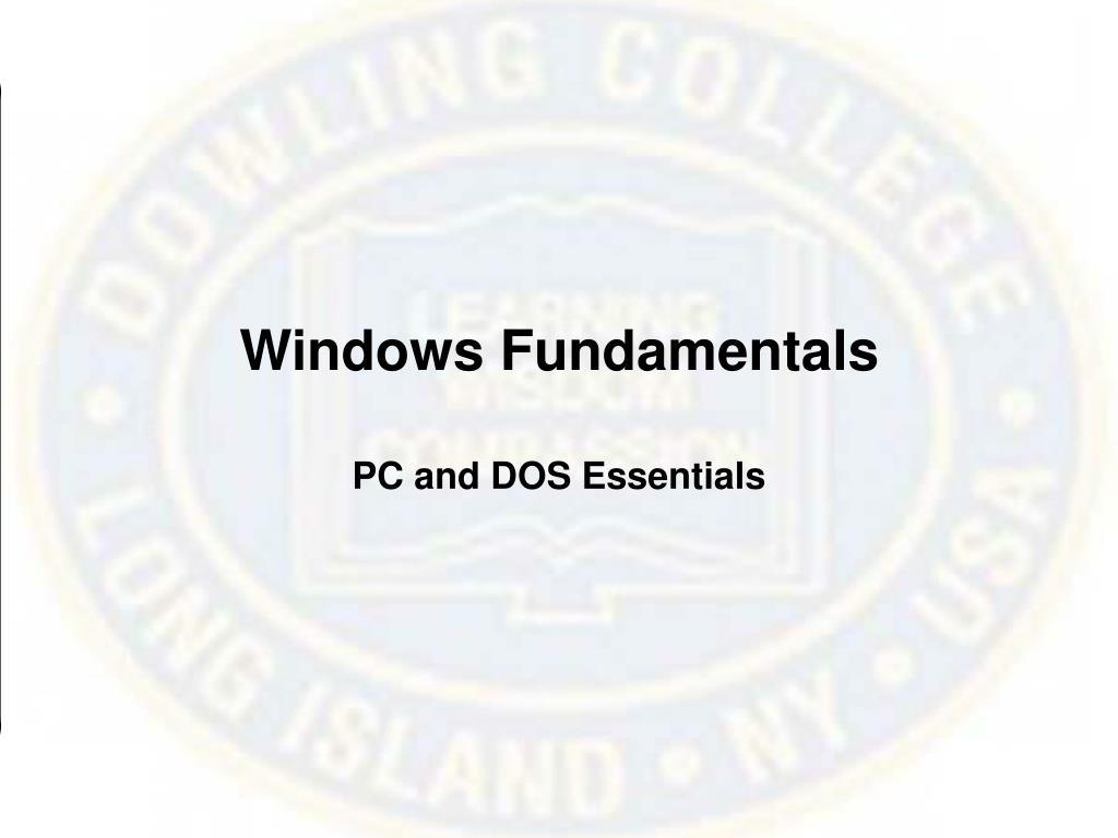Windows Fundamentals