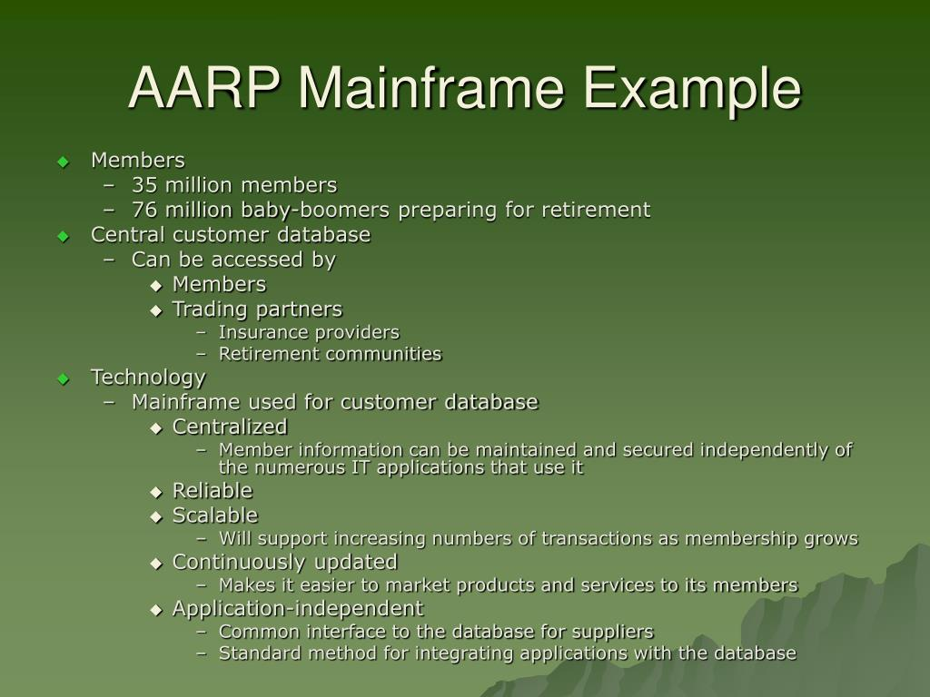 AARP Mainframe Example