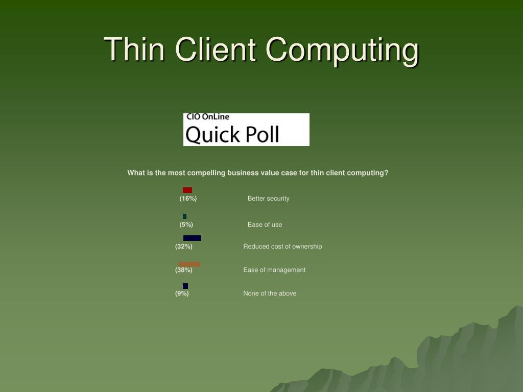 Thin Client Computing