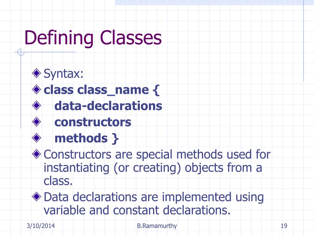 Defining Classes