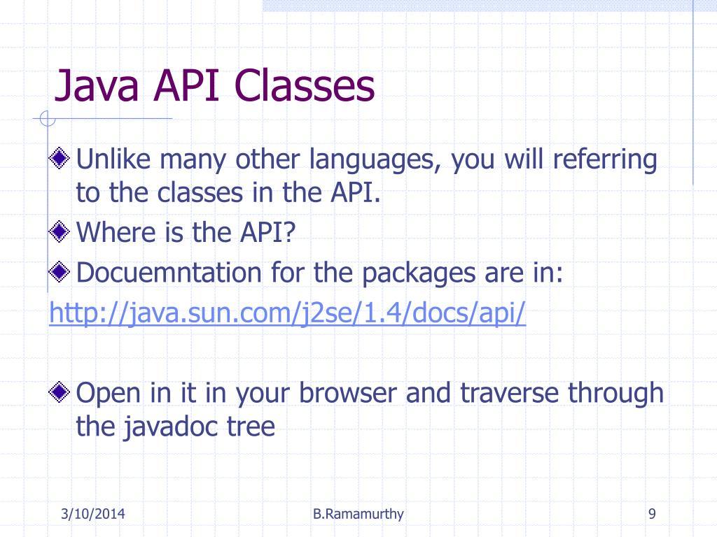 Java API Classes