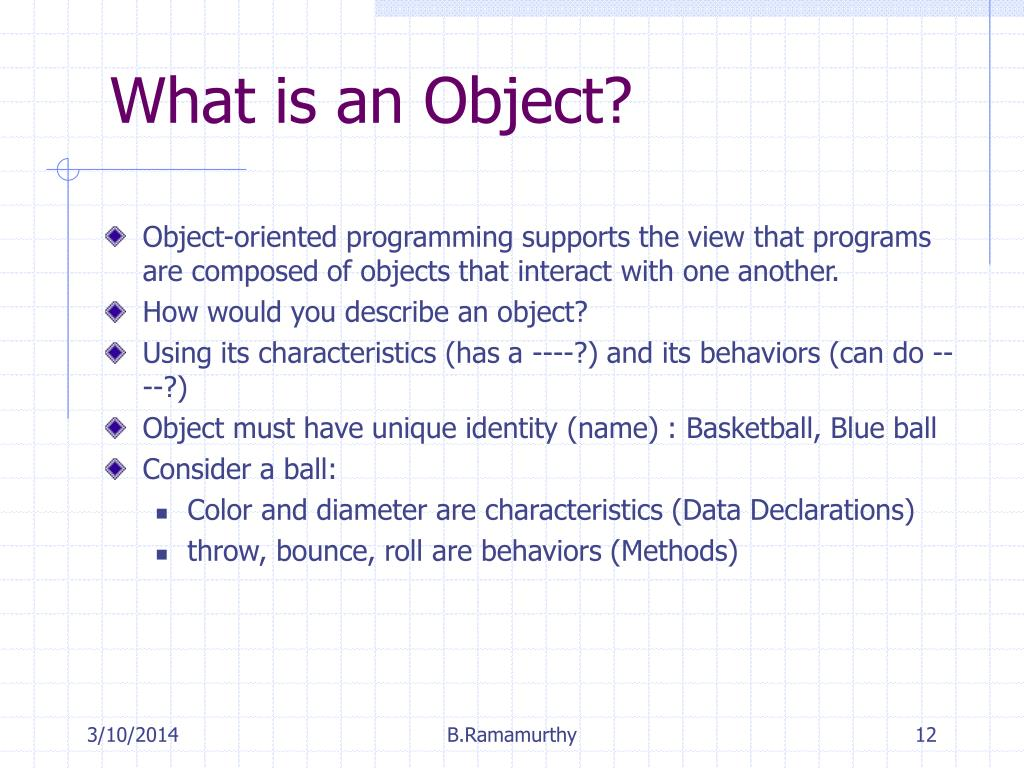 What is an Object?