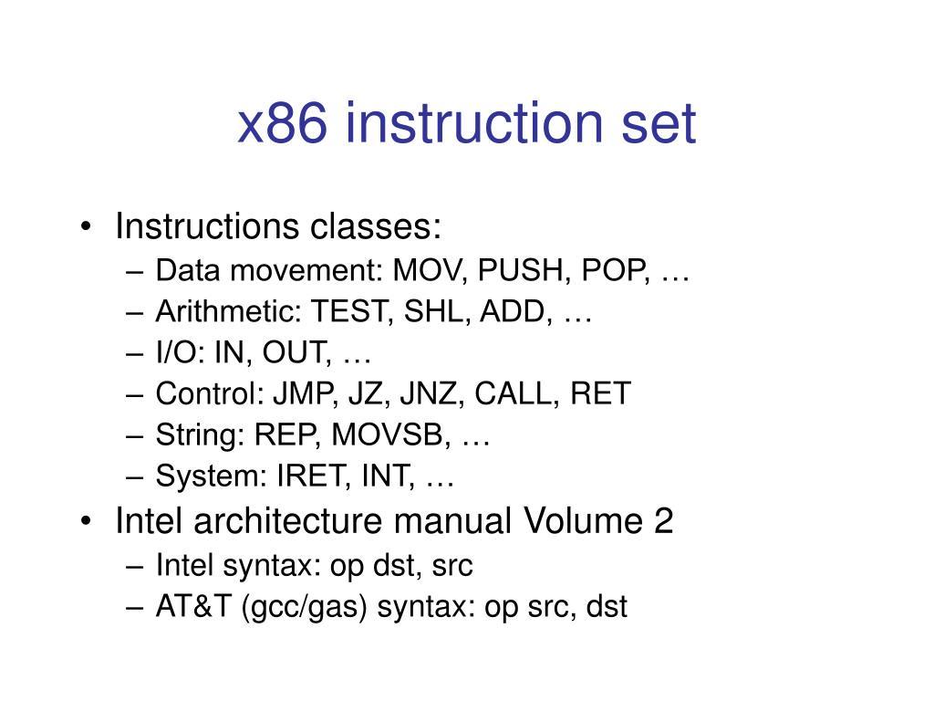 x86 instruction set