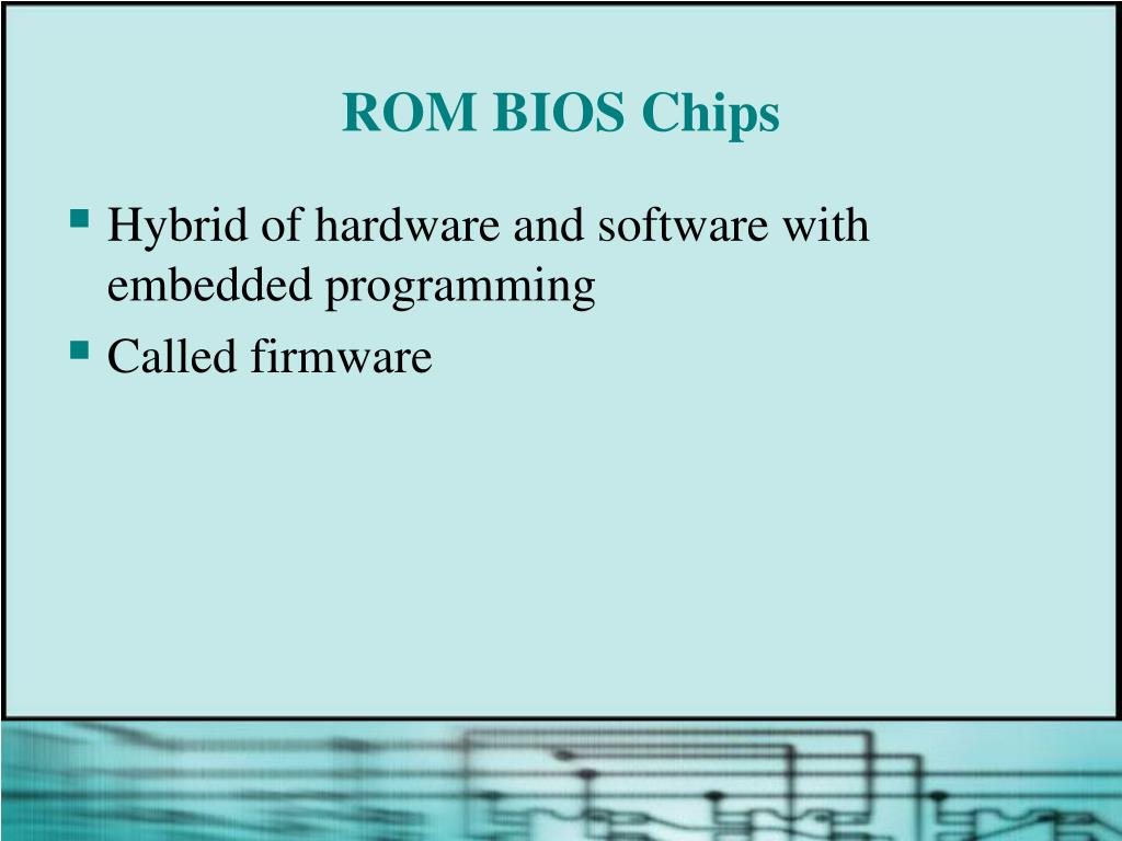 ROM BIOS Chips