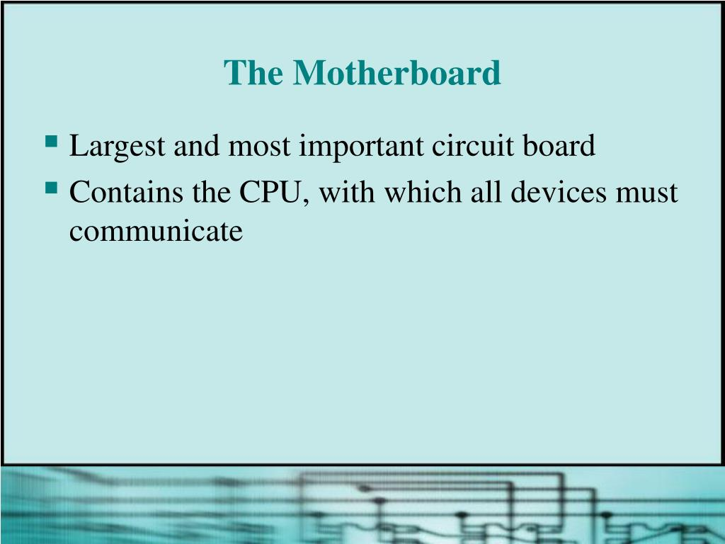 The Motherboard