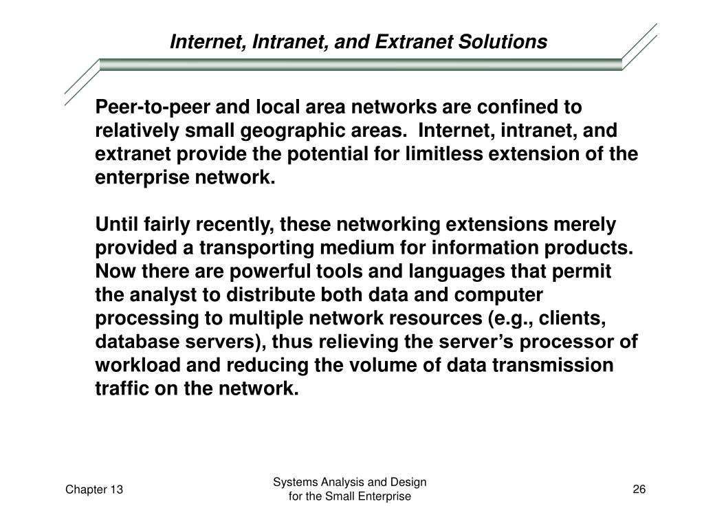Internet, Intranet, and Extranet Solutions