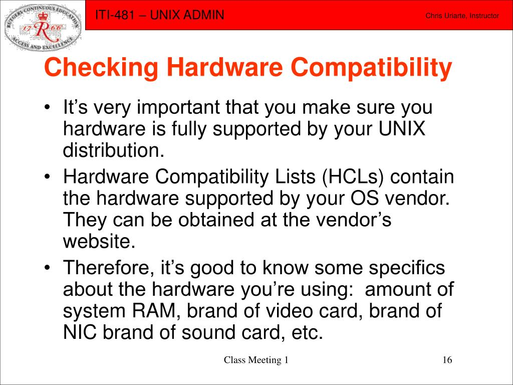 Checking Hardware Compatibility