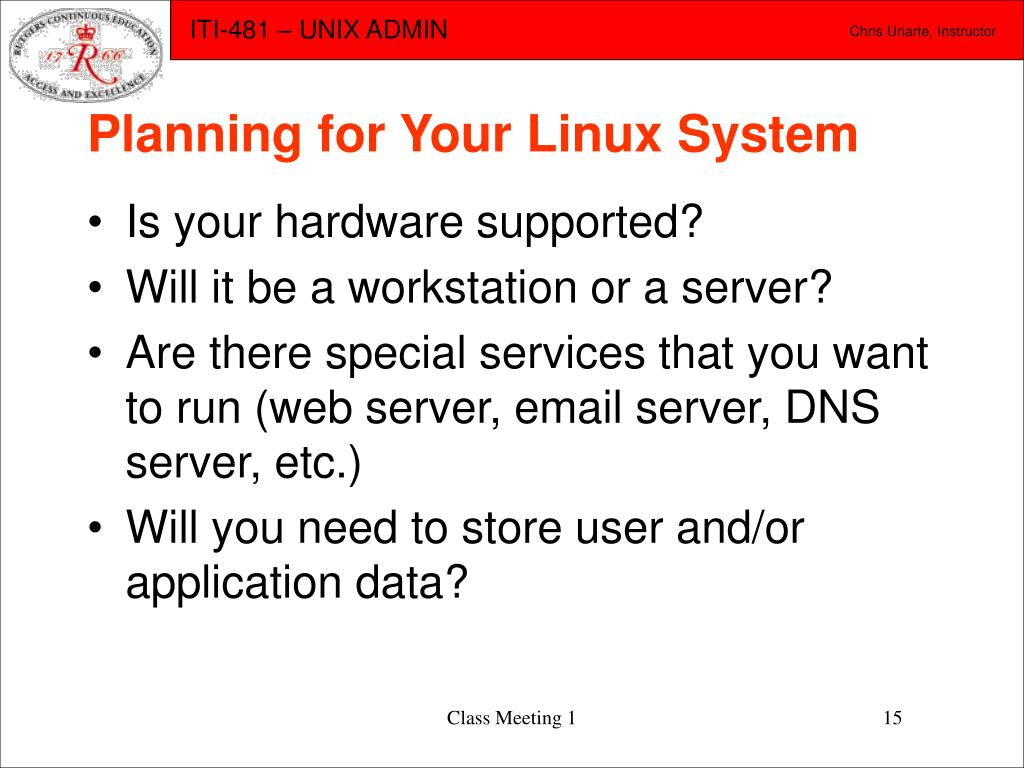 Planning for Your Linux System