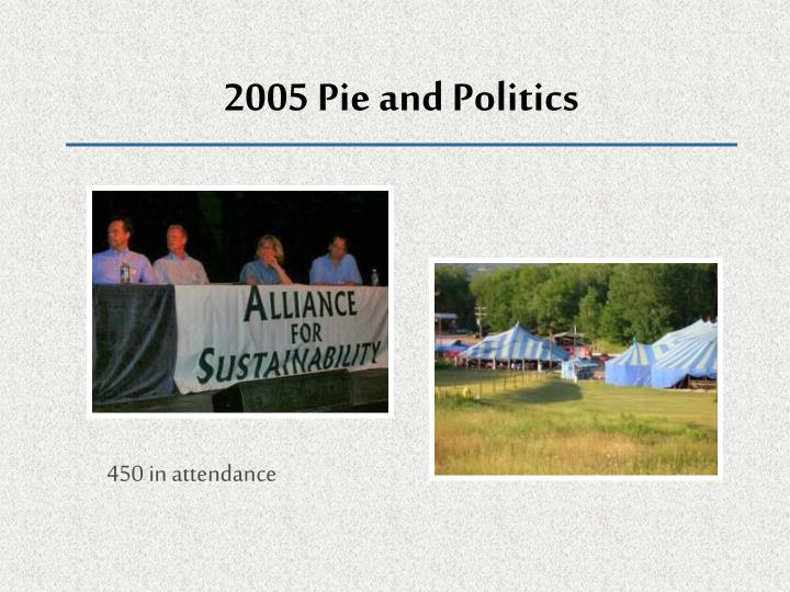 2005 Pie and Politics