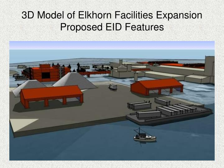 3D Model of Elkhorn Facilities Expansion