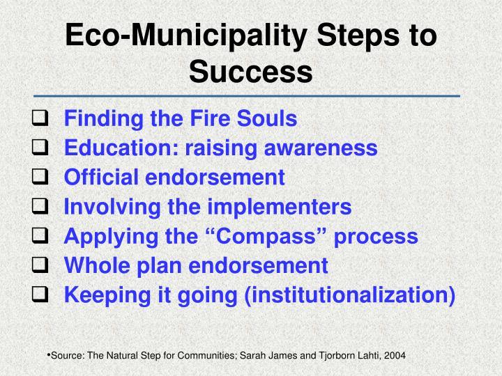 Eco-Municipality Steps to Success