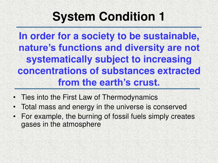 System Condition 1