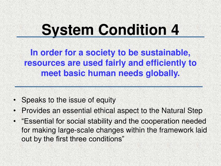 System Condition 4