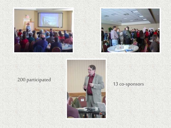 200 participated