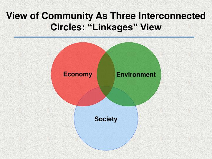 View of Community As Three Interconnected Circles: