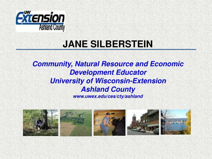JANE SILBERSTEIN