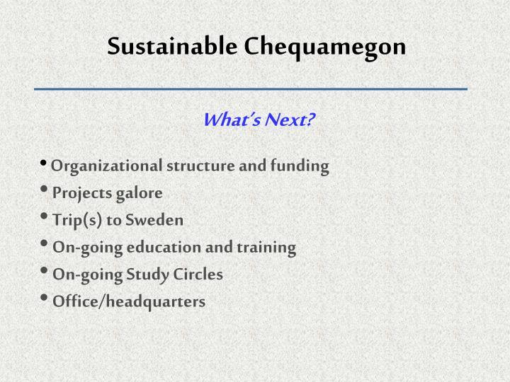 Sustainable Chequamegon