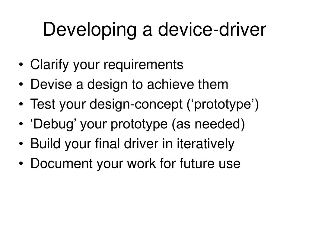 Developing a device-driver