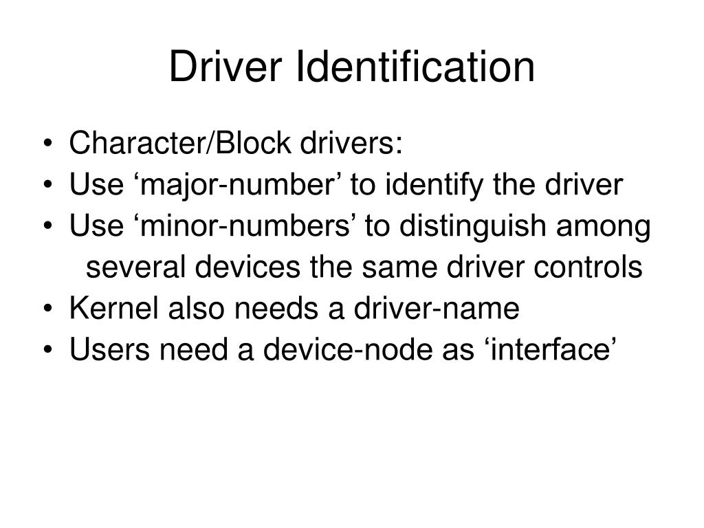 Driver Identification