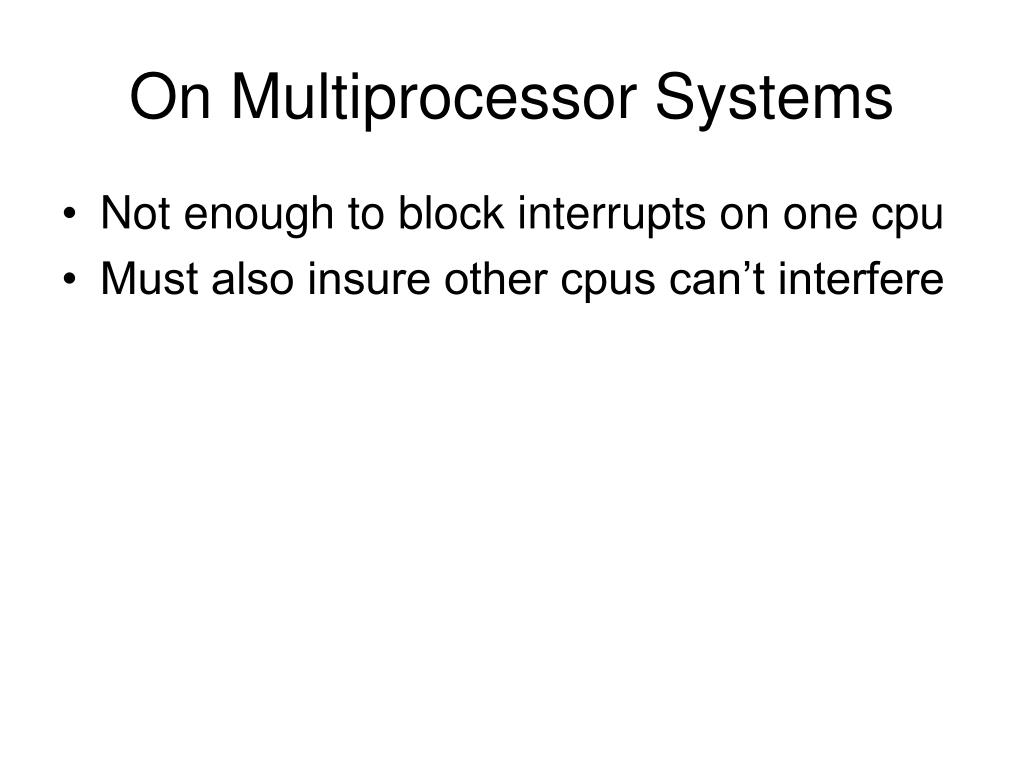 On Multiprocessor Systems