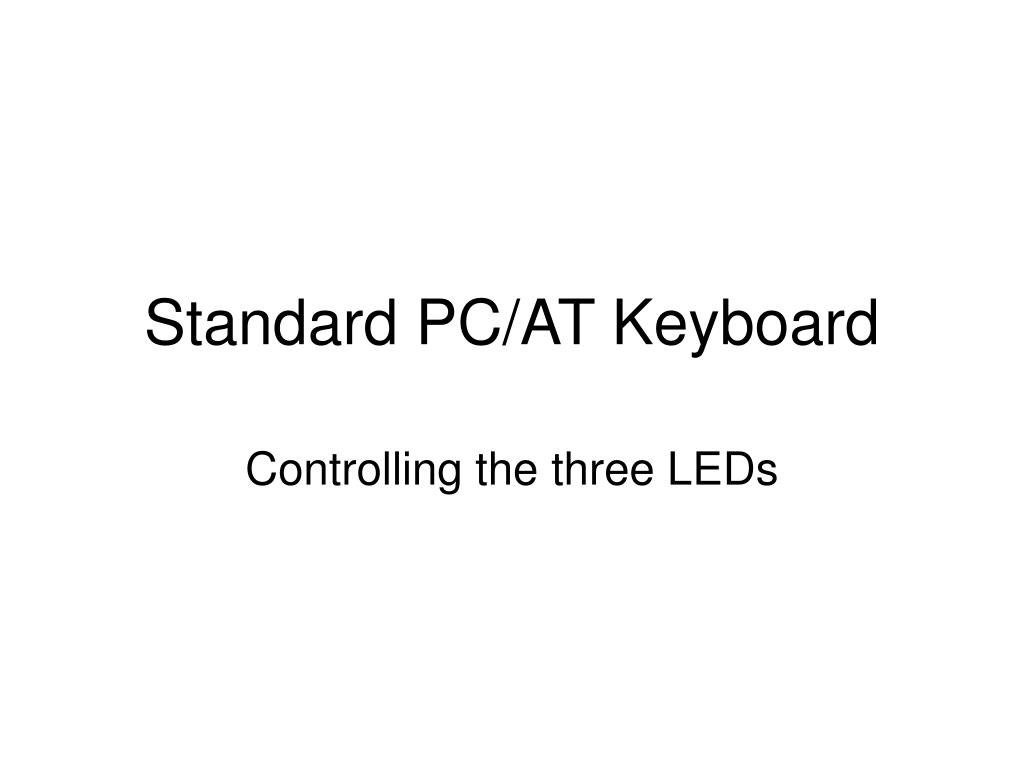 Standard PC/AT Keyboard