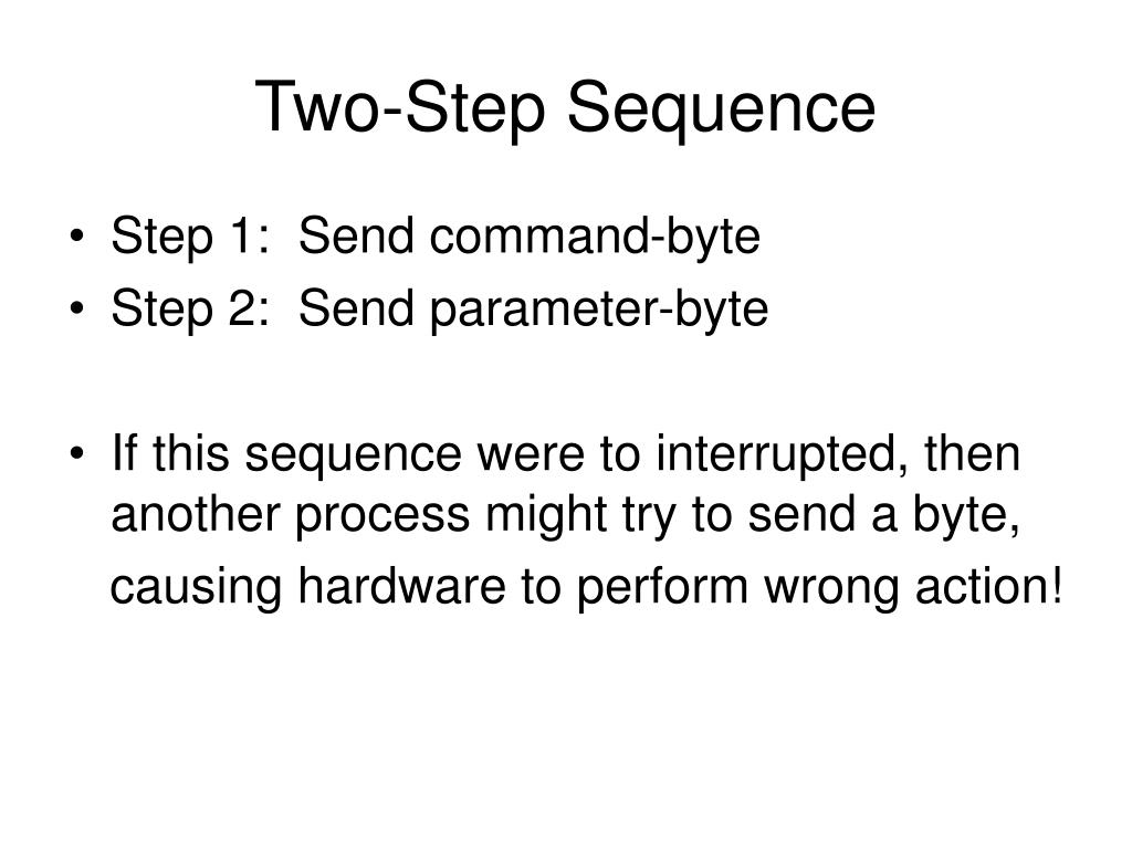Two-Step Sequence