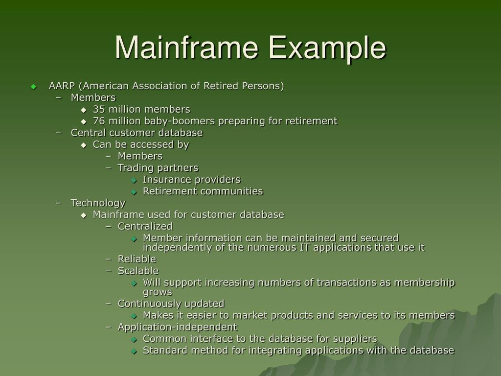 Mainframe Example