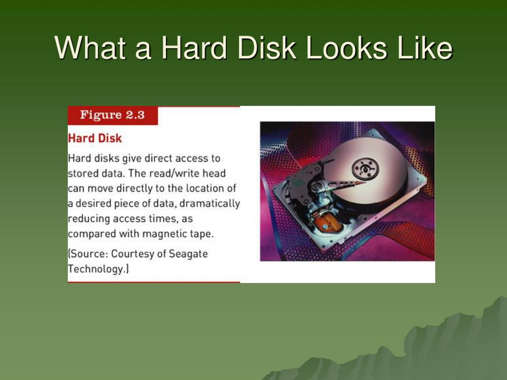 What a Hard Disk Looks Like