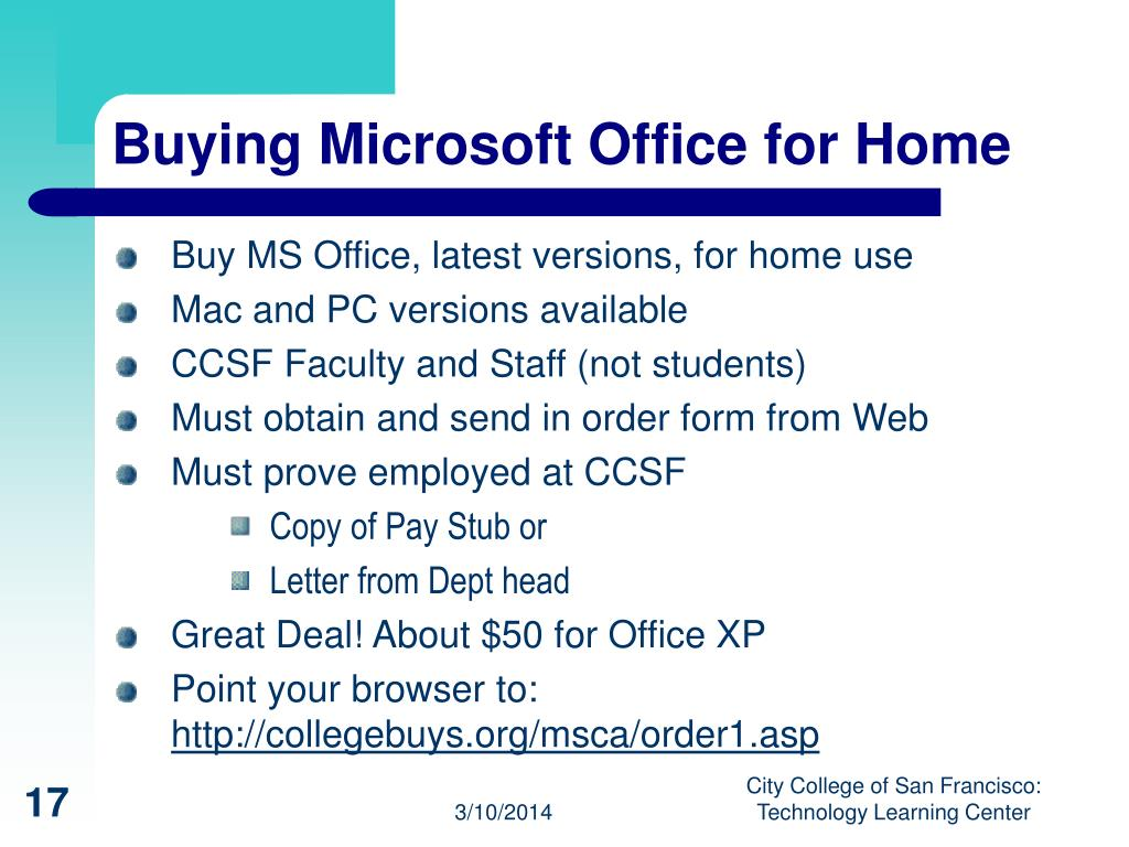 Buying Microsoft Office for Home