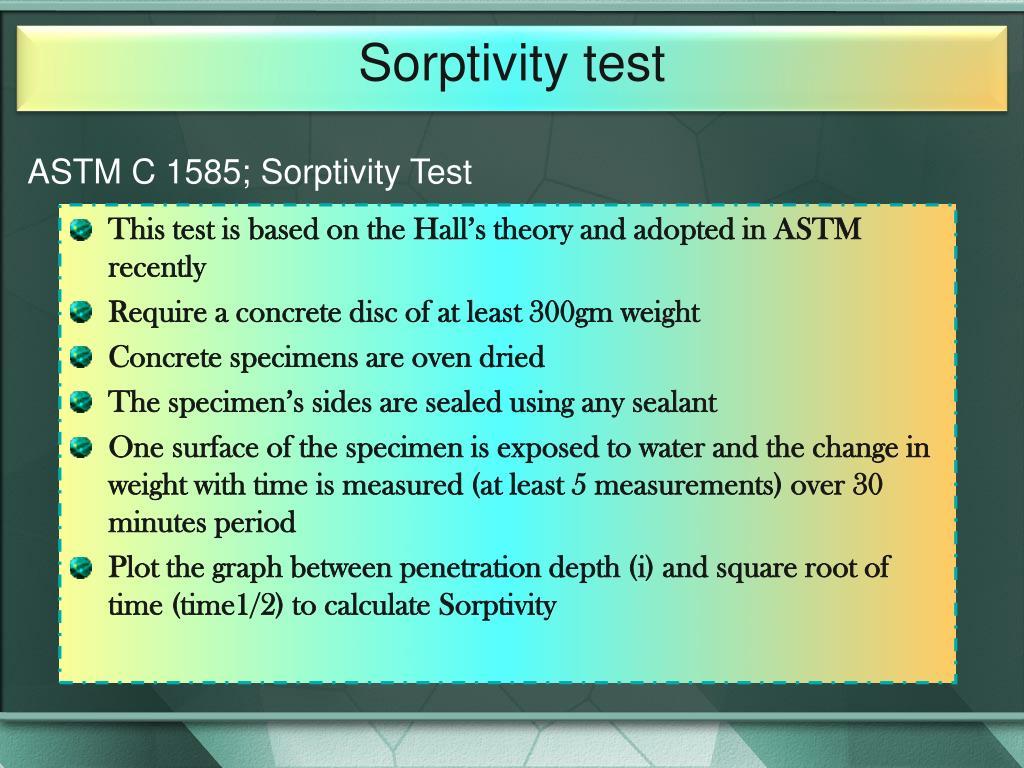 Sorptivity